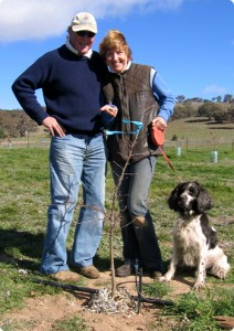 Sherry and Gavan with first truffle found 2007.